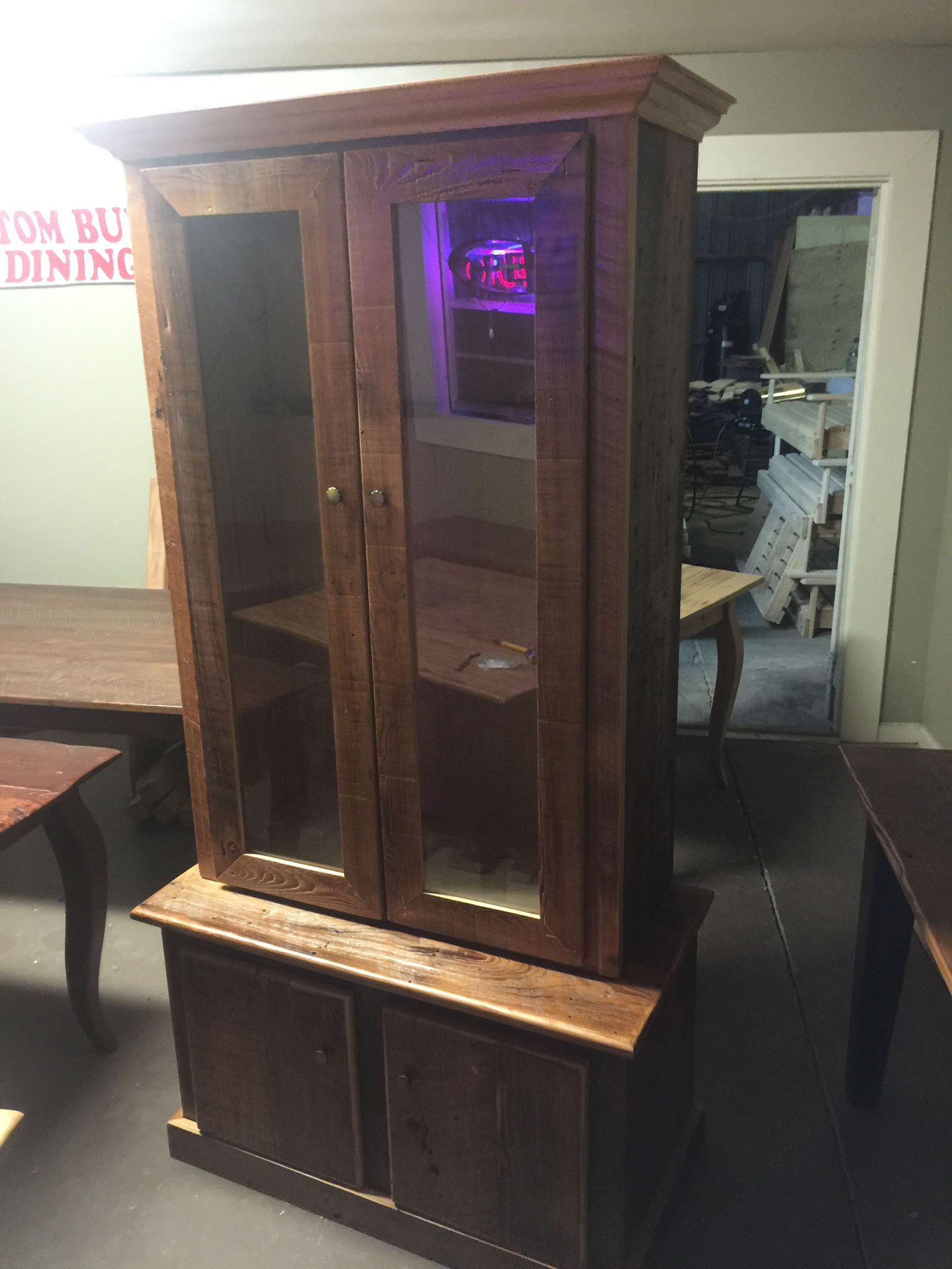 Stained Gun Cabinet