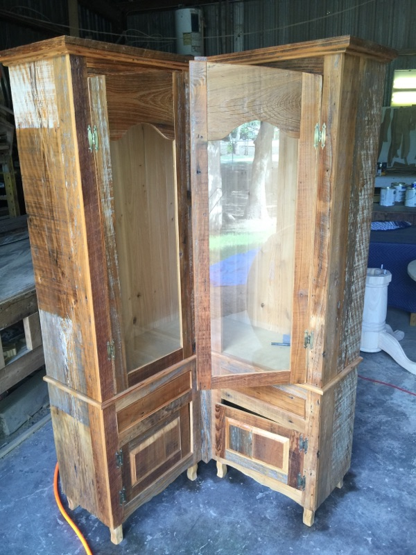 Cypress Antique Cabinets